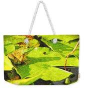 Frog On Lily Pad Weekender Tote Bag