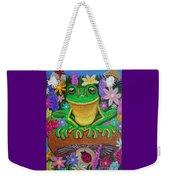 Frog On Mushroom Weekender Tote Bag