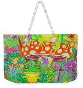 Frogs And Mushrooms Weekender Tote Bag