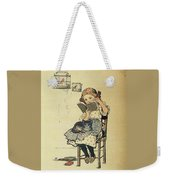 Frolic For Fun Girl And Bird Weekender Tote Bag