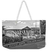From Old To New In Bedford County Black And White Weekender Tote Bag