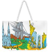 From Old To New York Weekender Tote Bag