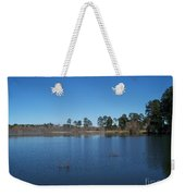 From The Bank Of The Lake In Eunice, Louisiana Weekender Tote Bag