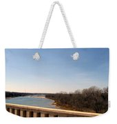 From The Bridge The Red River Weekender Tote Bag