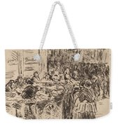 From The Jewish Quarter In Amsterdam: Fishmarket On The Street Corner Weekender Tote Bag