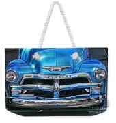 Front End Blue And Chrome Chevy Pick Up Weekender Tote Bag