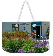 Flowers In Front Of Napier Common Room At Pilgrim Place In Claremont-california Weekender Tote Bag