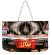 Front Of The Car - Grill And Plate Weekender Tote Bag