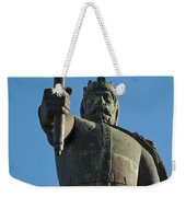 Front View Of King Afonso The Third Statue. Portugal Weekender Tote Bag