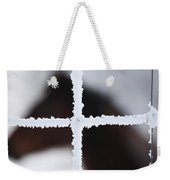 Frost Covered Fence And Horse Weekender Tote Bag