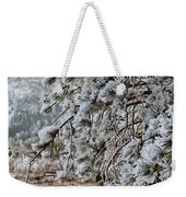 Frost-covered Pine Weekender Tote Bag