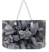Frost On Leaves 1 Weekender Tote Bag