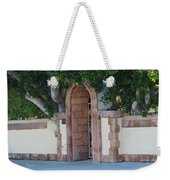 Frosted Almond Garden Wall With Red Brick Entrance Weekender Tote Bag