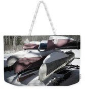 Frosted Canoes Weekender Tote Bag