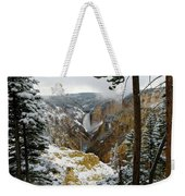 Frosted Canyon Weekender Tote Bag