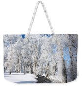 Frosted Cottonwoods Weekender Tote Bag