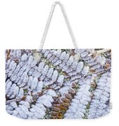 Frosted Fern Weekender Tote Bag