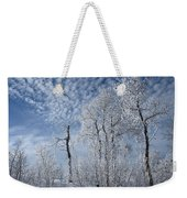 Frosted Hilltop Quakies Weekender Tote Bag