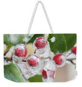 Frosted Holly Weekender Tote Bag