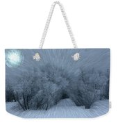 Frosted Moon Weekender Tote Bag