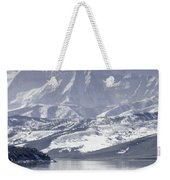 Frosted Mountains Weekender Tote Bag