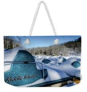 Frosted Paddleboats Weekender Tote Bag