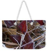 Frosted Red Green Briar Weekender Tote Bag