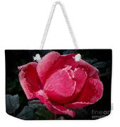 Frosted Rose Weekender Tote Bag