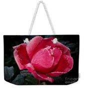 Frosted Rose Weekender Tote Bag
