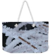 Frosted Twigs Weekender Tote Bag