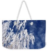 Frosted Weeping Willow Weekender Tote Bag