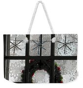 Frosted Windowpanes Weekender Tote Bag