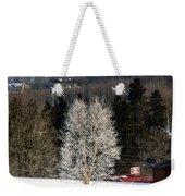 Frosty Birch Weekender Tote Bag