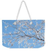 Frosty Branch Weekender Tote Bag