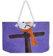 Frosty Cross Weekender Tote Bag