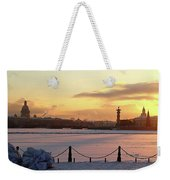 Frosty Evening In The City On The River Weekender Tote Bag