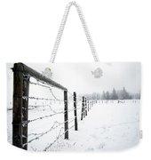 Frosty Fenceline Weekender Tote Bag