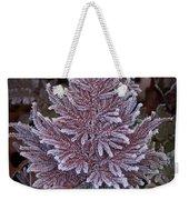 Frosty Fern Christmas Weekender Tote Bag