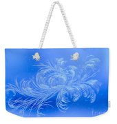 Frosty Flower Weekender Tote Bag