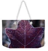 Frosty Lighted Leaf Weekender Tote Bag