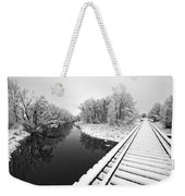Frosty Morning On The Poudre Weekender Tote Bag