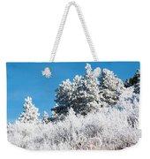 Frosty Mountainside Weekender Tote Bag