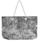 Frosty Pine Tree Weekender Tote Bag