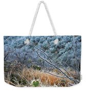 Frosty Prickly Pear Weekender Tote Bag