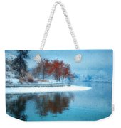 Frosty Reflection Weekender Tote Bag