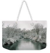 Frosty River Weekender Tote Bag