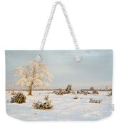 Frosty Solitude Tree In The First Morning Sunshine Weekender Tote Bag
