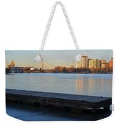 Frozen Dock On The Charles River Weekender Tote Bag