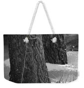 Frozen Black And White Weekender Tote Bag
