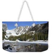 Frozen Colorado Lake Weekender Tote Bag